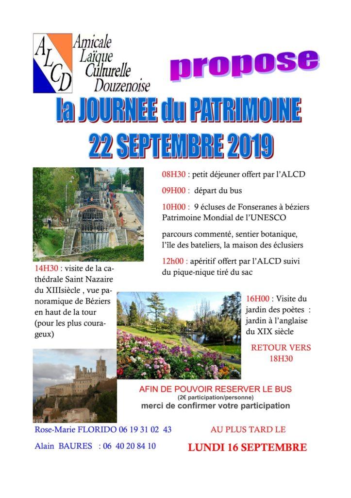 Journée du patrimoine avec L'ALCD de Douzens - Objectif Béziers